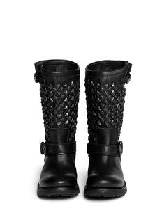 ASH'Tokyo' stud leather biker boots
