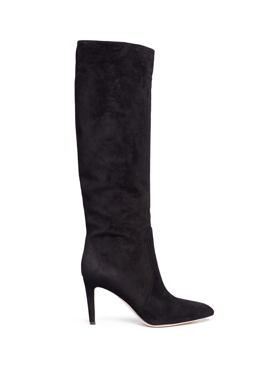 Dana knee high suede boots by Gianvito Rossi