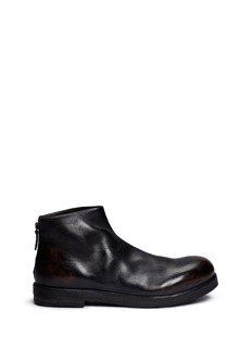 Marsèll 'Zucca' burnished leather ankle boots