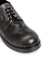 'Zucca Zeppa' metallic leather Derbies