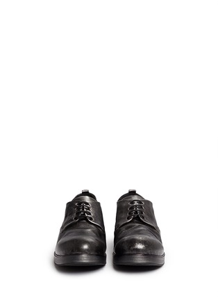 Front View - Click To Enlarge - Marsèll - 'Zucca Zeppa' metallic leather Derbies