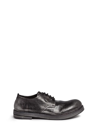 Main View - Click To Enlarge - Marsèll - 'Zucca Zeppa' metallic leather Derbies