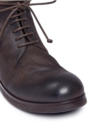 Detail View - Click To Enlarge - Marsèll - 'Zuccapro' nubuck leather combat boots
