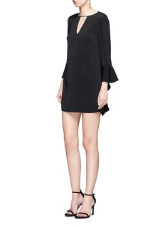 C/Meo Collective  'Spelt Out' cascading flare cuff crepe dress