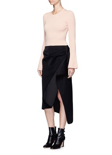 C/Meo Collective  There is a Way' bell sleeve cropped sweater