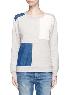 ClosedDenim patchwork fleece lined sweatshirt