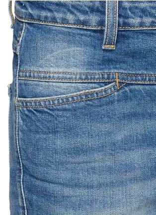 Detail View - Click To Enlarge - Closed - 'Cropped Worker' heavy wash denim pants