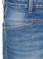 'Cropped Worker' heavy wash denim pants