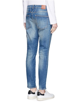 Back View - Click To Enlarge - Closed - 'Cropped Worker' heavy wash denim pants