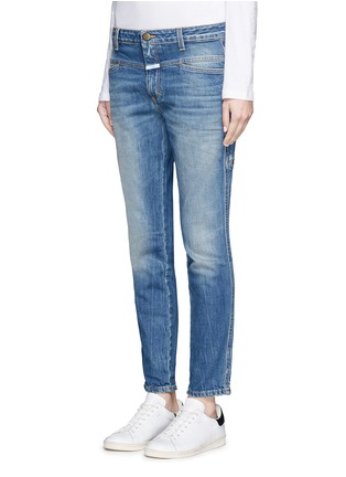 Front View - Click To Enlarge - Closed - 'Cropped Worker' heavy wash denim pants