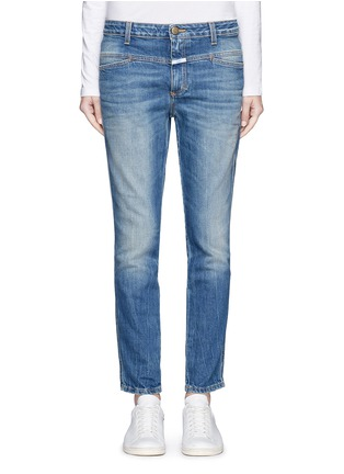Main View - Click To Enlarge - Closed - 'Cropped Worker' heavy wash denim pants