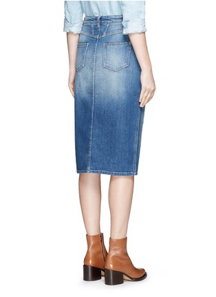 Back View - Click To Enlarge - Closed - 'Coco' front slit denim skirt