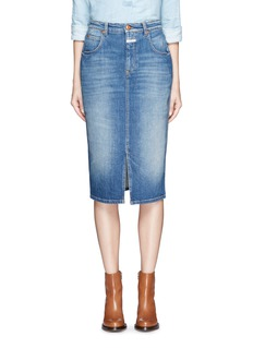 Closed'Coco' front slit denim skirt