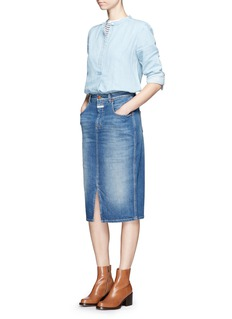 Closed 'Coco' front slit denim skirt