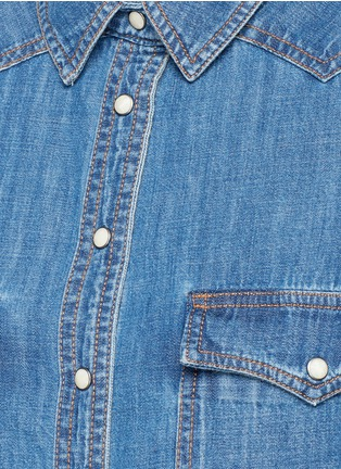 Detail View - Click To Enlarge - Closed - Western detail cotton denim shirt