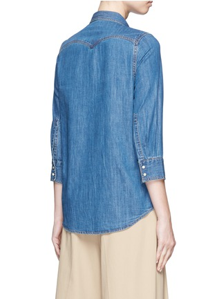 Back View - Click To Enlarge - Closed - Western detail cotton denim shirt
