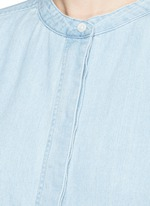 Cotton-linen denim tunic