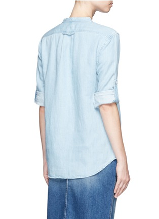 Back View - Click To Enlarge - Closed - Cotton-linen denim tunic