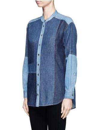细节 - 点击放大 - CLOSED - 拼贴设计牛仔衬衫