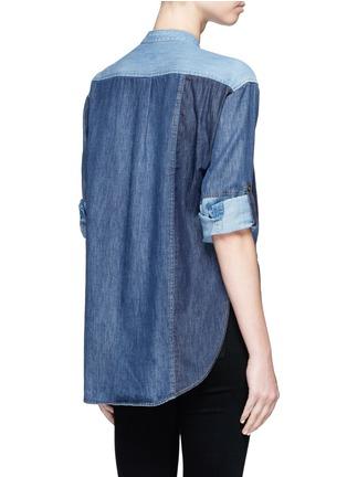 背面 - 点击放大 - CLOSED - 拼贴设计牛仔衬衫