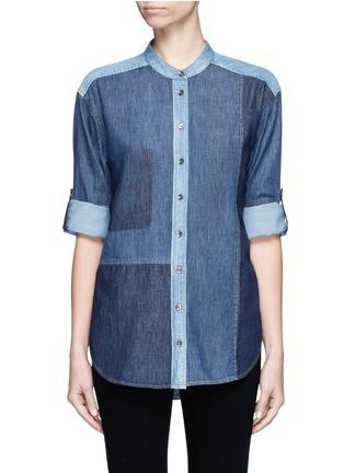 首图 - 点击放大 - CLOSED - 拼贴设计牛仔衬衫