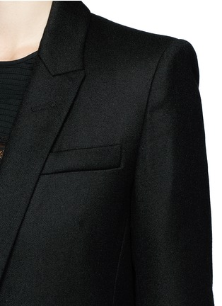 Detail View - Click To Enlarge - Isabel Marant Étoile - 'Igor' textured wool blend blazer