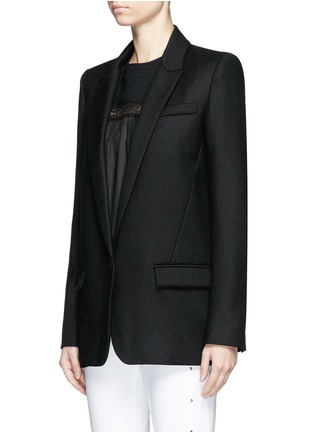 Front View - Click To Enlarge - Isabel Marant Étoile - 'Igor' textured wool blend blazer