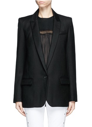 Main View - Click To Enlarge - Isabel Marant Étoile - 'Igor' textured wool blend blazer