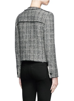 Back View - Click To Enlarge - Isabel Marant Étoile - 'Laura' stripe frayed edge tweed jacket
