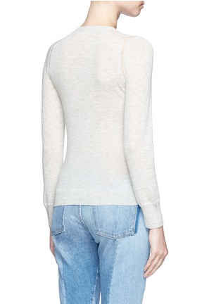 Back View - Click To Enlarge - Isabel Marant Étoile - 'Fairlea' alpaca-Merino wool cardigan