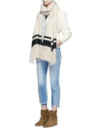 Figure View - Click To Enlarge - Isabel Marant Étoile - 'Fairlea' alpaca-Merino wool cardigan