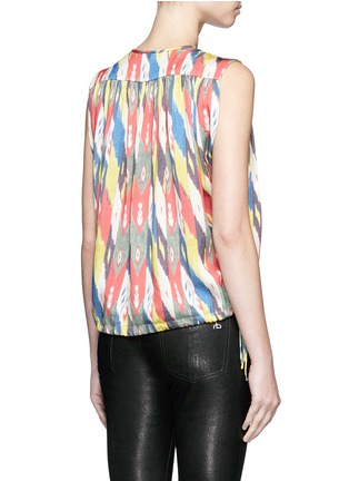 Back View - Click To Enlarge - Isabel Marant Étoile - 'Hervey' rainbow tribal print drawstring blouse