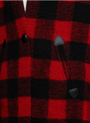 Detail View - Click To Enlarge - Isabel Marant Étoile - 'Gabrie' check plaid bouclé coat