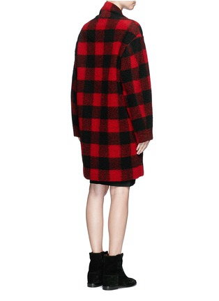 Back View - Click To Enlarge - Isabel Marant Étoile - 'Gabrie' check plaid bouclé coat