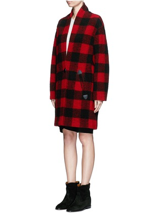 Front View - Click To Enlarge - Isabel Marant Étoile - 'Gabrie' check plaid bouclé coat