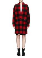 'Gabrie' check plaid bouclé coat