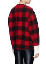 'Fimo' check wool blend bouclé jacket
