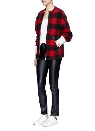 Figure View - Click To Enlarge - Isabel Marant Étoile - 'Fimo' check wool blend bouclé jacket