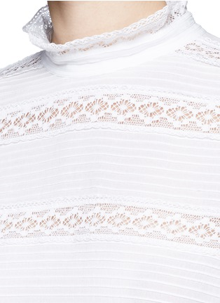 Detail View - Click To Enlarge - Isabel Marant Étoile - 'Ria' blouson sleeve lace insert blouse