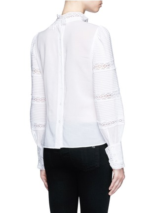 Back View - Click To Enlarge - Isabel Marant Étoile - 'Ria' blouson sleeve lace insert blouse