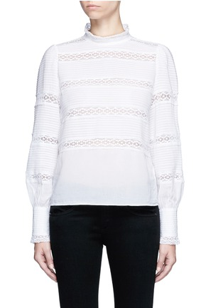Main View - Click To Enlarge - Isabel Marant Étoile - 'Ria' blouson sleeve lace insert blouse