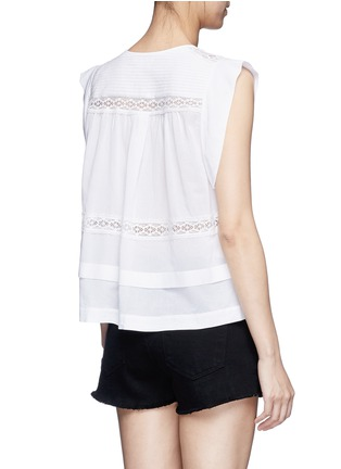 Back View - Click To Enlarge - Isabel Marant Étoile - 'Rodge' lace insert butterfly sleeve top
