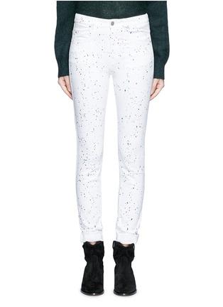 Detail View - Click To Enlarge - Isabel Marant Étoile - 'Ennett' scatter paint print jeans