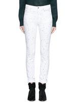 'Ennett' scatter paint print jeans
