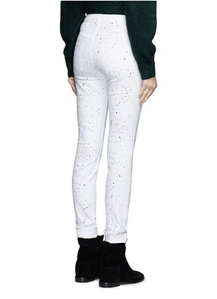 Back View - Click To Enlarge - Isabel Marant Étoile - 'Ennett' scatter paint print jeans