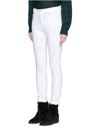 Front View - Click To Enlarge - Isabel Marant Étoile - 'Ennett' scatter paint print jeans