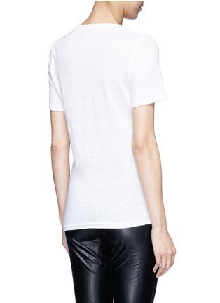 Back View - Click To Enlarge - Isabel Marant Étoile - 'Kranger' V-neck linen T-shirt