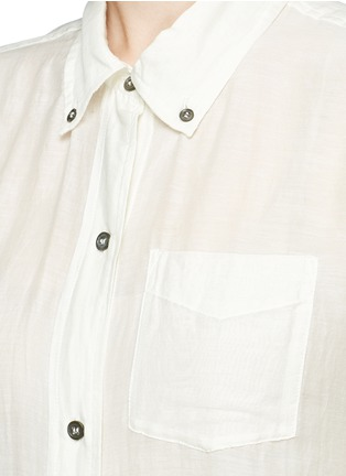 Detail View - Click To Enlarge - Isabel Marant Étoile - 'Lindsey' sheer cotton silk shirt