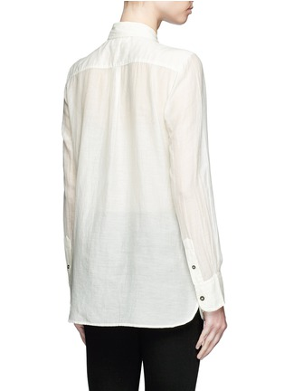 Back View - Click To Enlarge - Isabel Marant Étoile - 'Lindsey' sheer cotton silk shirt