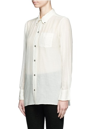 Front View - Click To Enlarge - Isabel Marant Étoile - 'Lindsey' sheer cotton silk shirt